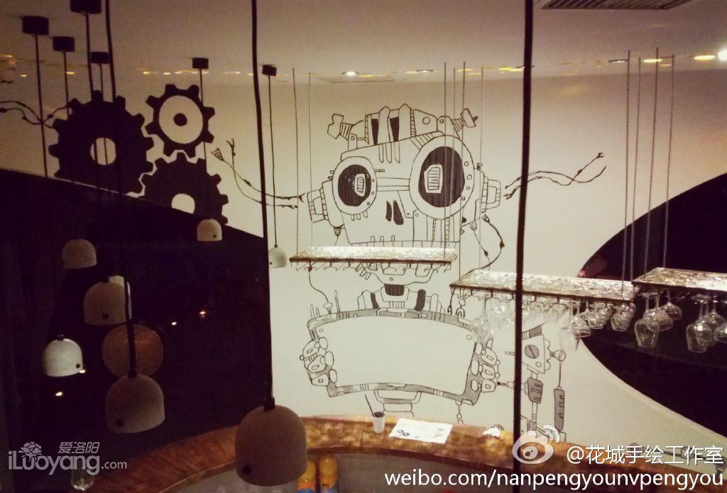 创意——酒吧手绘墙