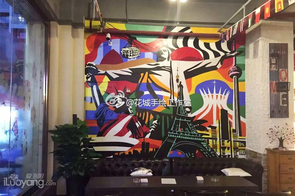 波普风格的墙画